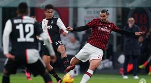 Juve v Milan is off due to Coronavirus. Twitter/ACMilan