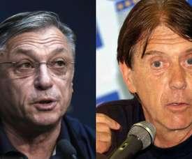 Zlatko Kranjcar y Cesare Maldini fueron entrenadores de sus hijos en Mundiales. AFP/BeSoccer