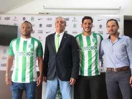Zúñiga y Castellani fueron presentados. AtléticoNacional