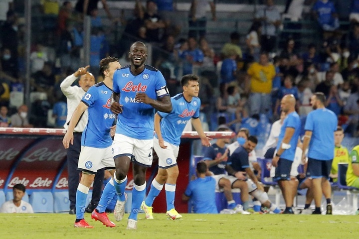 Koulibaly scored his second goal in as many games in Napoli's rout of Udinese. AFP