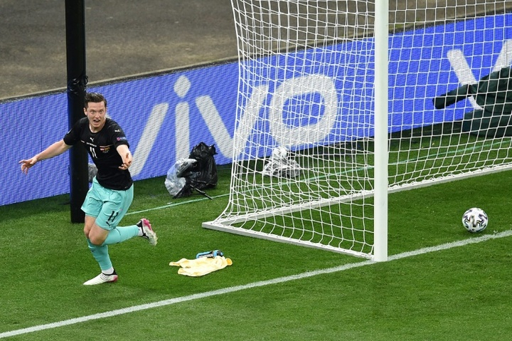 Gregoritsch scored Austrias second in the 78th minute. AFP