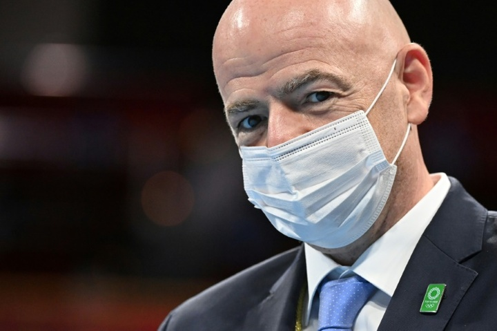 Gianni Infantino wants Premier League and La Liga clubs to release their internationals. AFP