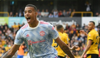 Mason Greenwood earned Manchester United a 1-0 win at Wolves. AFP