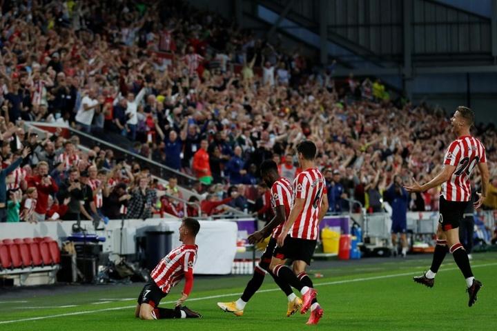 Sergi Canos scored Brentford's first ever Premier League goal. AFP