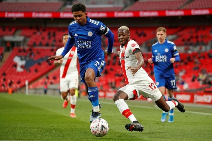Mali star Moussa Djenepo (R) plays his football for Southampton. AFP