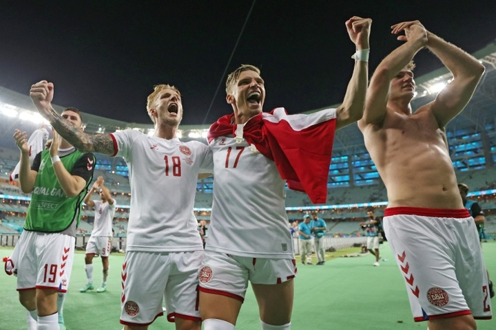 Denmark are looking to go all the way after reaching the semi-finals. AFP