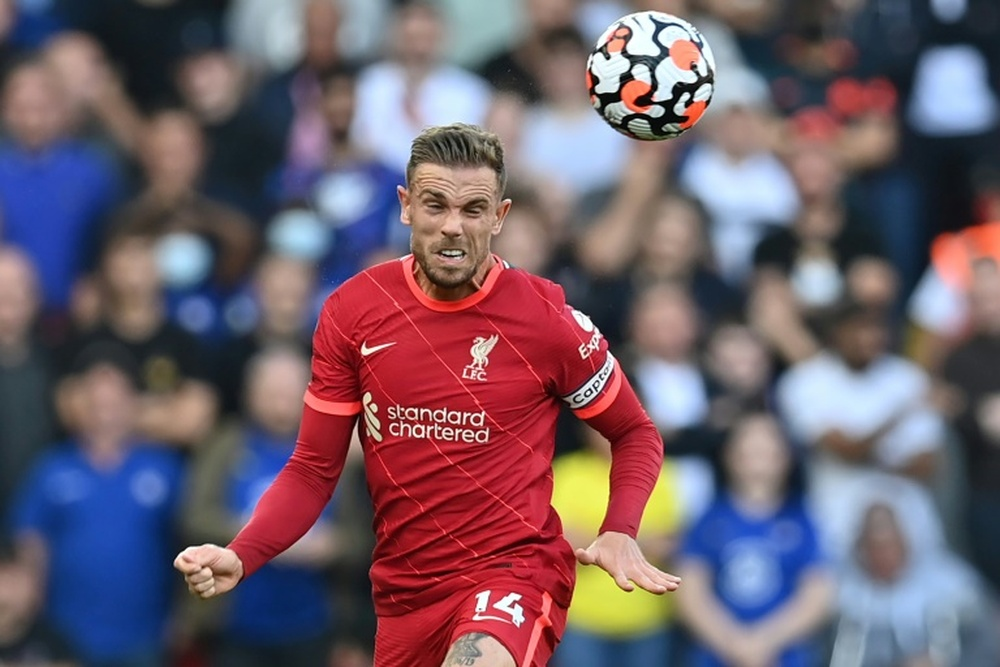 Jordan Henderson has signed a new contract at Liverpool. AFP
