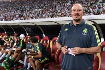 Real Madrids head coach Rafael Benitez, in Guangzhou on July 27, 2015, brushed off rumours of making a bid for David de Gea