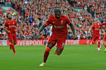 Sadio Mane scored Liverpools second goal in a 2-0 win over Burnley. AFP
