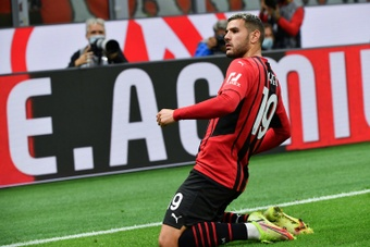 Theo Hernandez's goal against Venezia was his first of the season for AC Milan. AFP