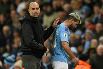 Pep Guardiola says Manchester City will need to sign a long-term successor to Sergio Aguero. AFP