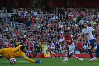 Arsenal won their third league game in a row. AFP