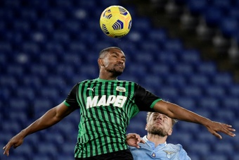 Marlon (C) has joined Shakhtar from Sassuolo. AFP