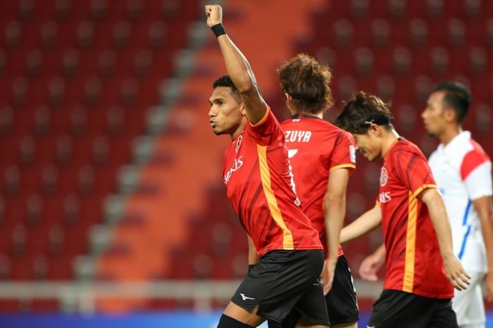 Nagoyas penalty scorer Mateus. AFP