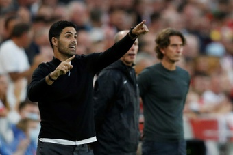 Mikel Arteta is not going to make major changes to his methods. AFP