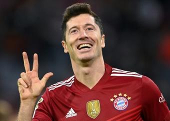 Robert Lewandowski scored 41 goals last season to win Europes Golden Boot. AFP