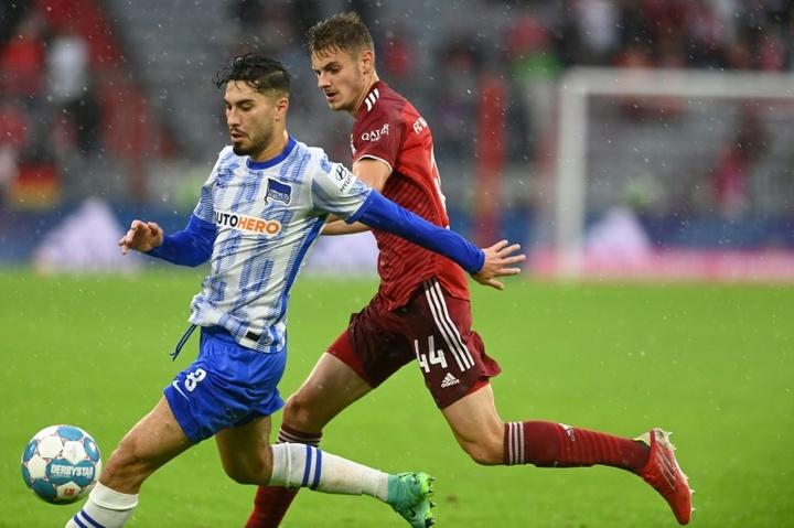 Suat Serdar (L) scored twice as Hertha won 1-3 at Bochum. AFP