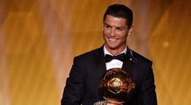 Cristiano Ronaldo won the 2014 FIFA Ballon d'Or award for player of the year for the third time. AFP