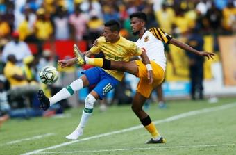 Gaston Sirino (L) scored as Kaizer Chiefs beat Mamelodi Sundowns. AFP
