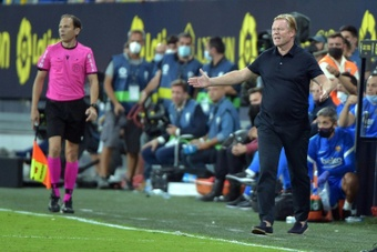 Koeman got sent-off in the 96th minute. AFP