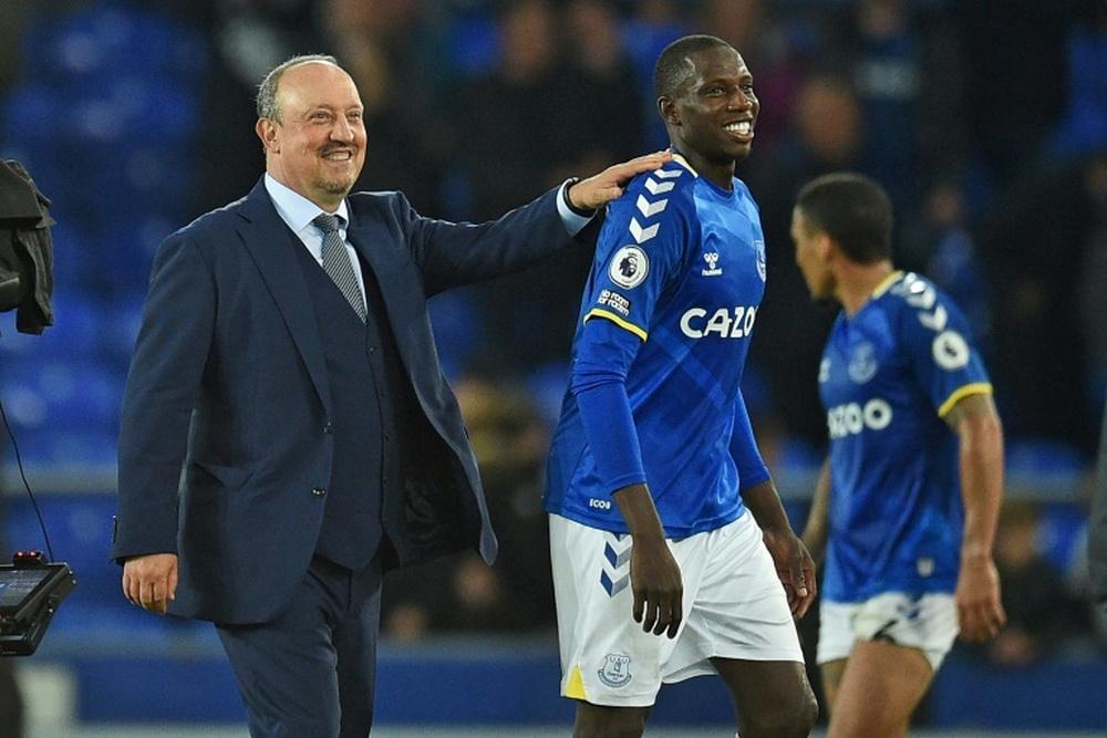 Everton blitz Burnley to move joint top of Premier League. AFP