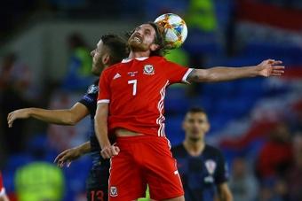 Joe Allen out of Wales v Czech Republic World Cup qualifier. AFP