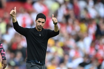 Arteta sees light at the end of the tunnel for Arsenal. AFP