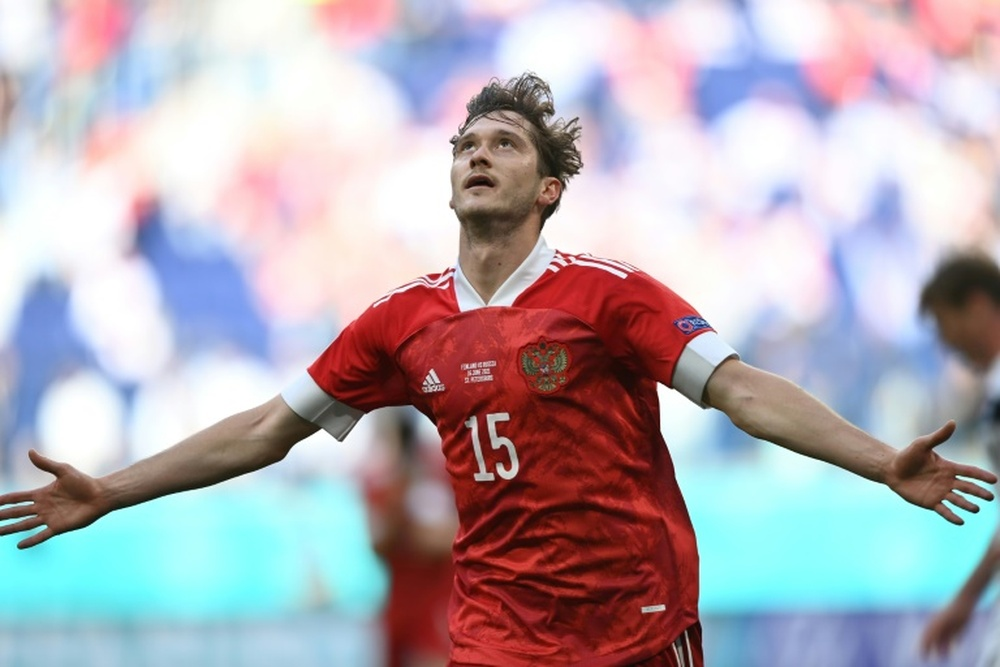 Aleksei Miranchuk gave Russia a crucial victory over Finland. AFP