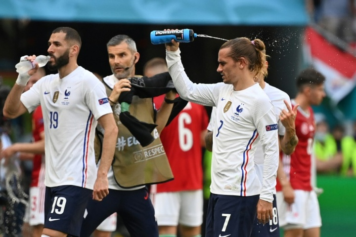 Griezmann has backed Benzema after the RM man has been criticised. AFP