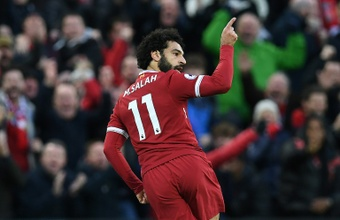 Liverpool's Mo Salah currently holds the Premier League record. AFP