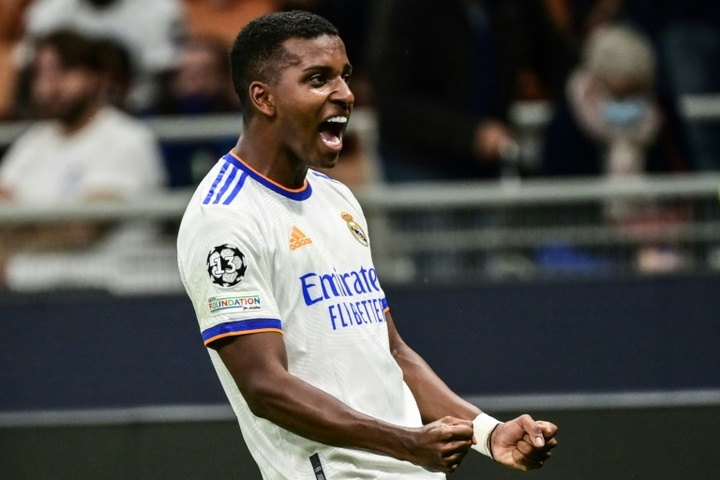 Rodrygo get Madrid the win in the 89th minute. AFP