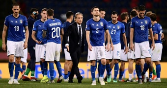 Italy disappointed in the match on Saturday. AFP