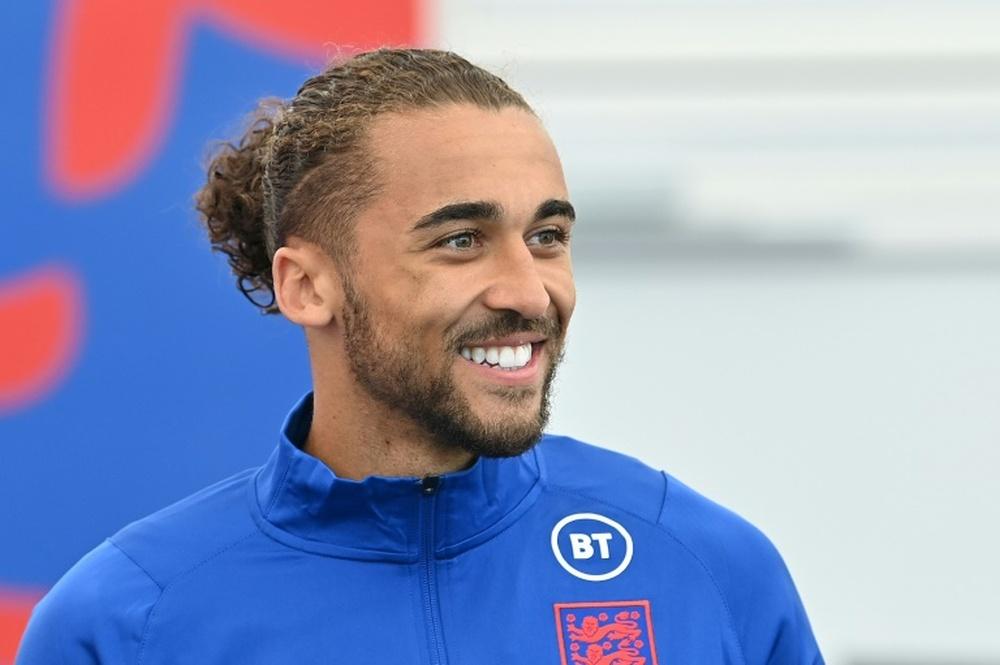 Dominic Calvert-Lewin thinks Kane will score versus Germany. AFP