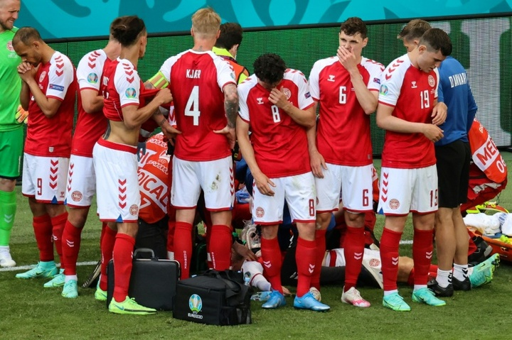 Eriksen saviours honoured by UEFA. AFP