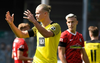 Erling Haaland drew a blank on a busy day of Bundesliga action. AFP