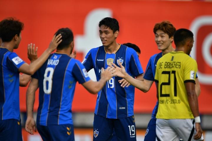 Ulsan's Oh Se-hun bagged a first half brace against Kaya. AFP
