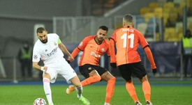 Dentinho scored the first of Shakhtar's goals as they beat Real Madrid 2-0. AFP