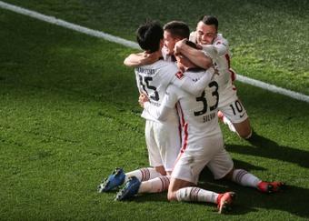 Andre Silva scored a winner as Eintracht Frankfurt shocked Dortmund. AFP