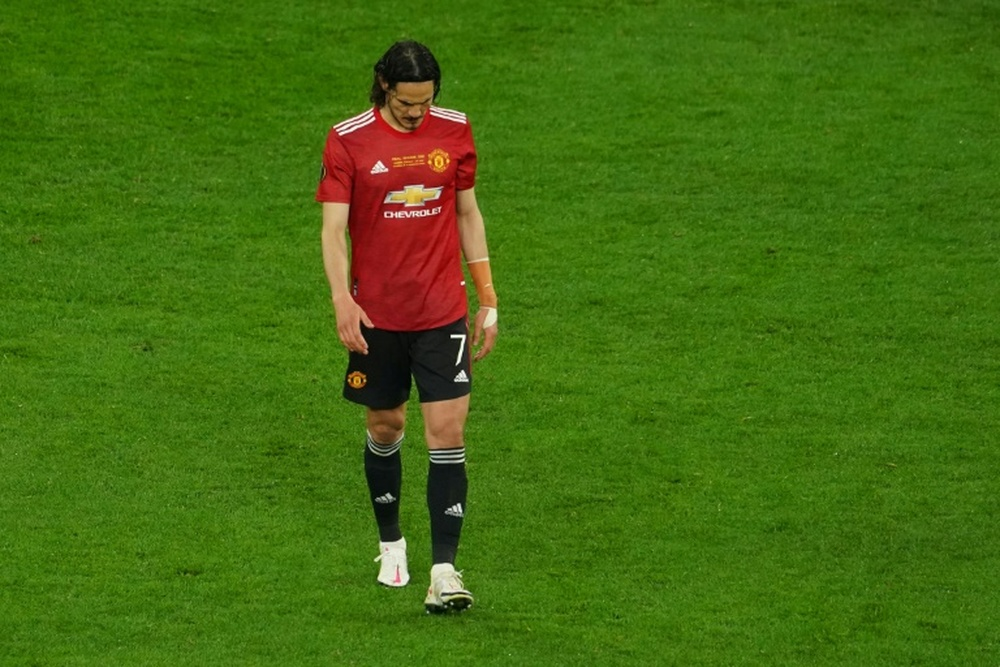 Edinson Cavani is considering a move after his spell at Man United comes to an end. AFP