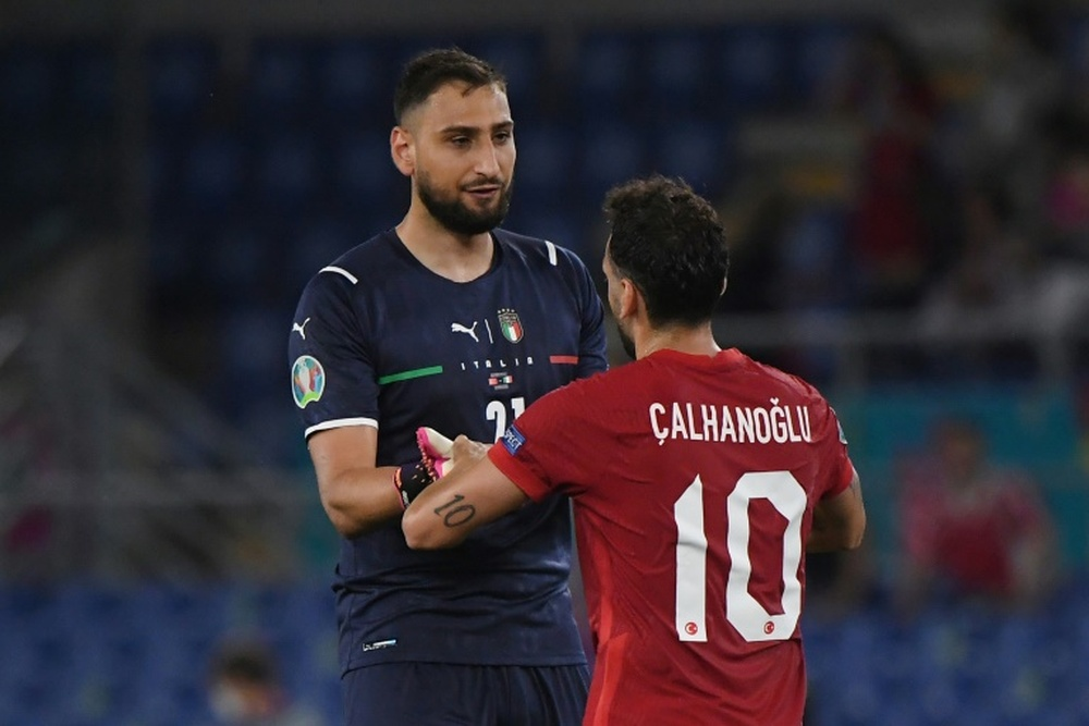 Calhanoglu looks to be on his way out of Milan, with Italy's Donnarummo soon to follow. AFP