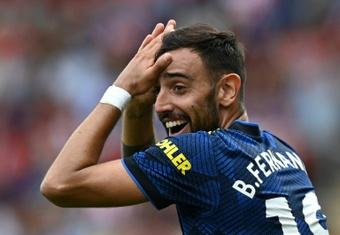 Solskjaer felt Bruno Fernandes was fouled before Southampton's goal. AFP