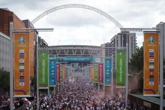 Wembley will host a women's World Cup qualifier between England and Northern Ireland. AFP