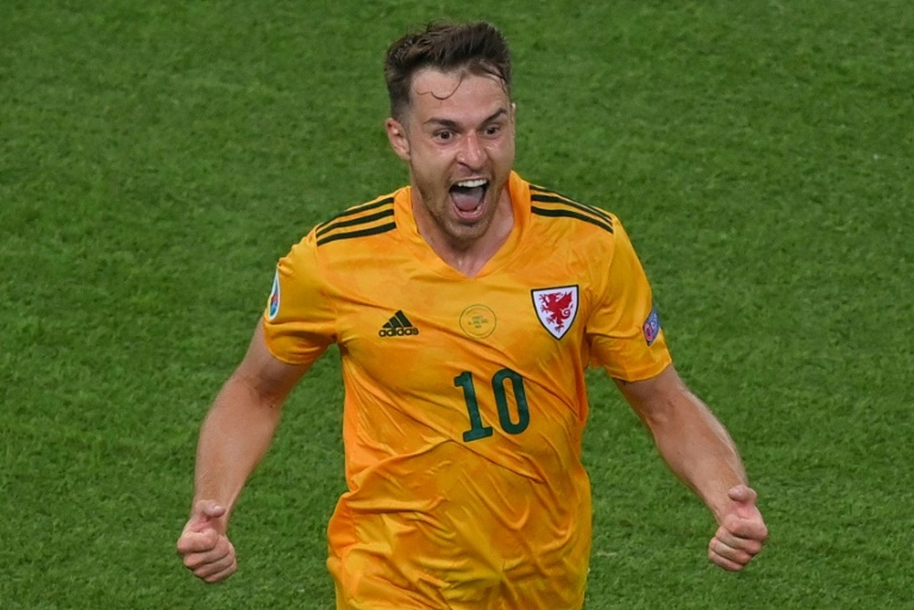 Aaron Ramsey scored as Wales defeated Turkey 2-0. AFP