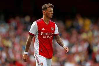 Ben White has been Arsenal's marquee signing of the transfer window. AFP