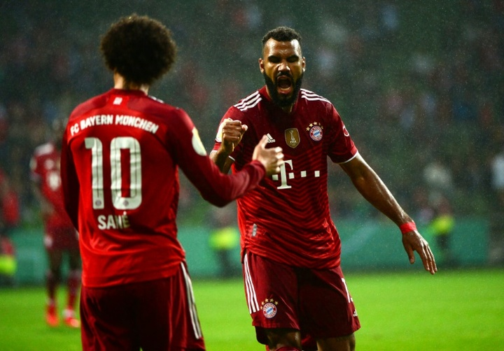Bayern Munich's Eric Maxim Choupo-Moting (R) netted four in the 0-12 win. AFP