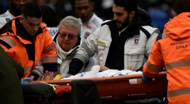 Lyon forward Terrier collapses during Ligue 1 game. AFP
