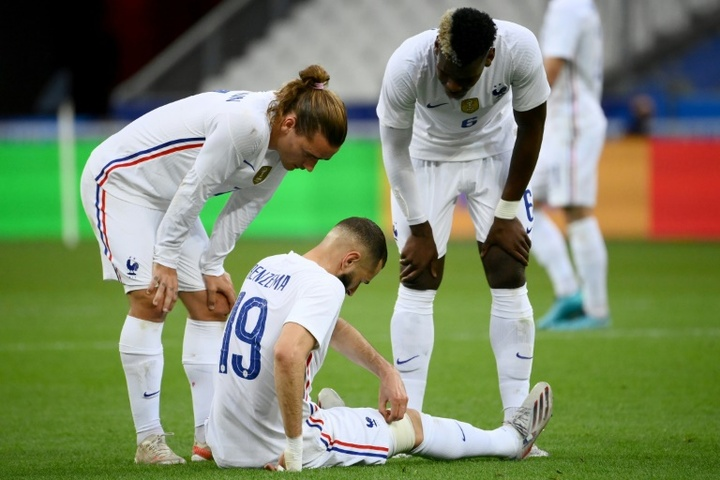 Benzema is given the all clear after suffering a dead leg in France's friendly against Bulgaria. AFP