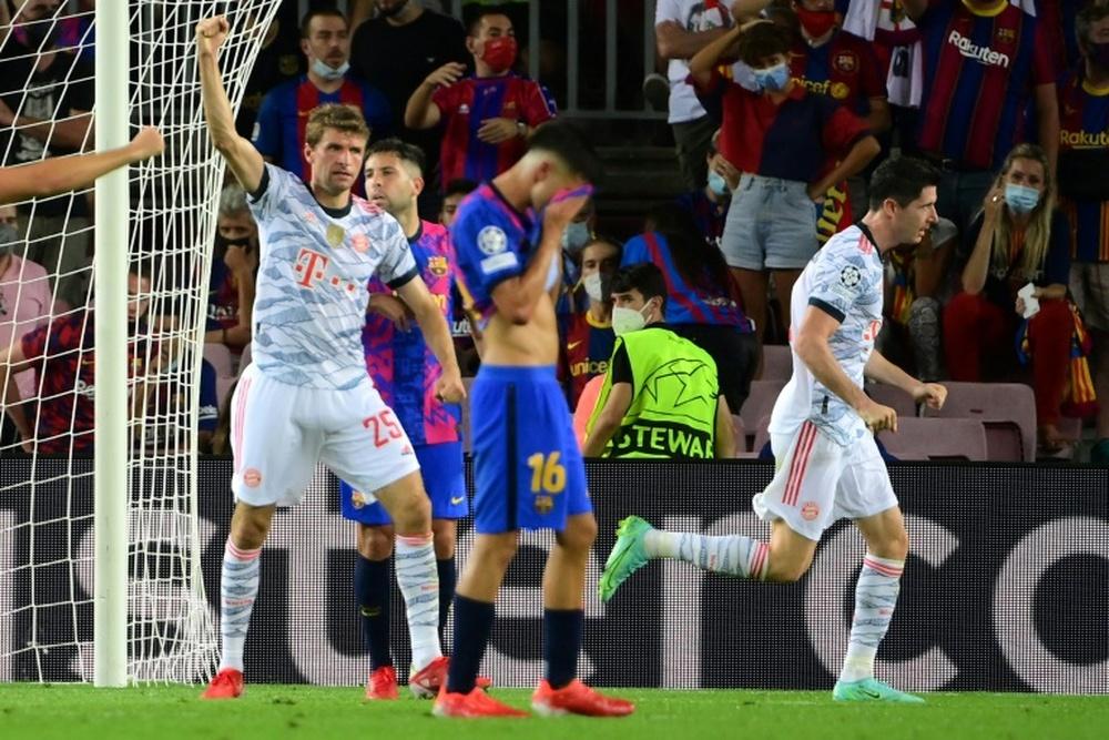 Bayern won 3-0 at Camp Nou. AFP
