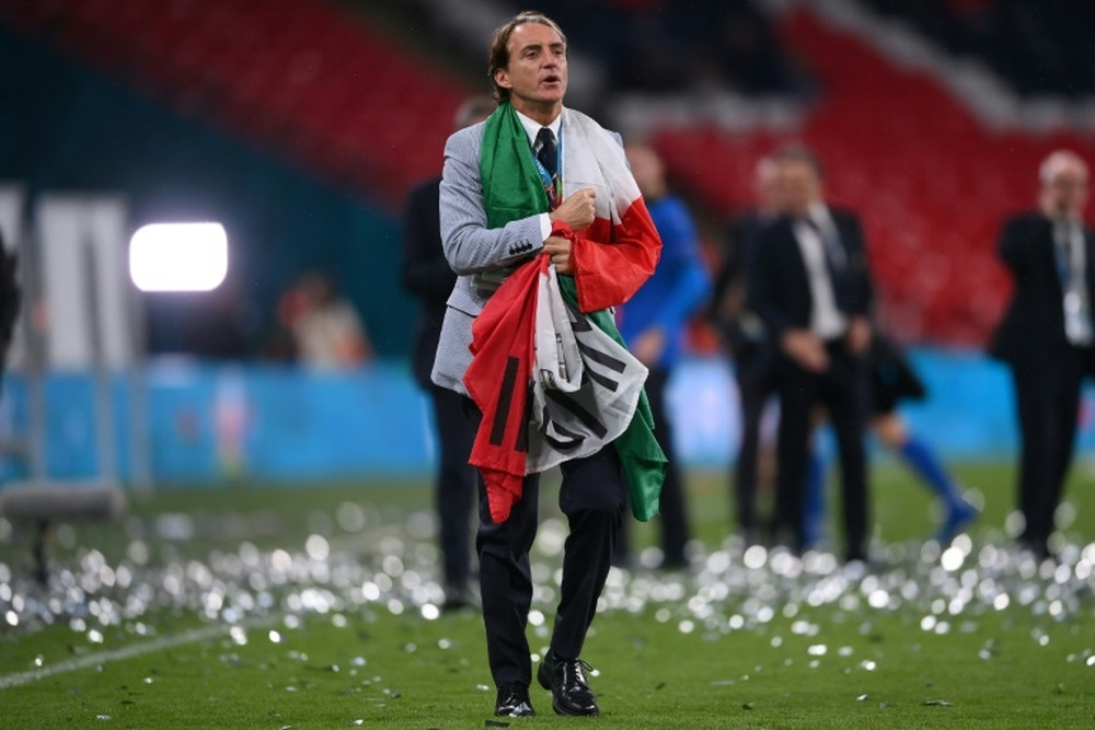 Roberto Mancini led Italy to their second European Championship title in July. AFP