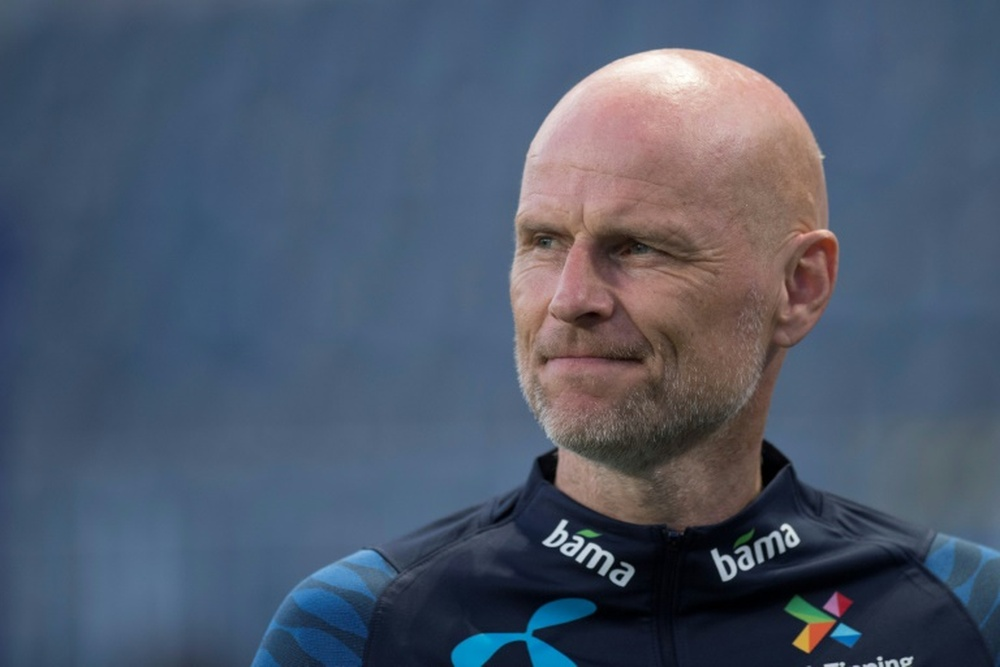 Norway coach Stale Solbakkens is not happy at 25% capacity restriction. AFP